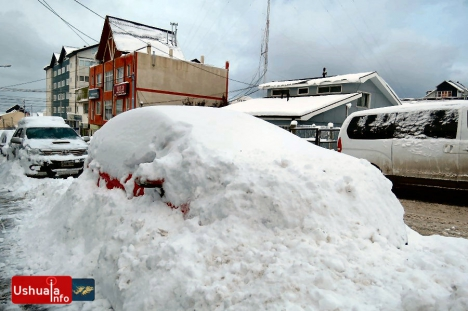 Ushuaia bajo la nieve: intensas nevadas y temperaturas de hasta -9°C